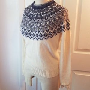 Sz XS embellished ANN TAYLOR fair isle sweater